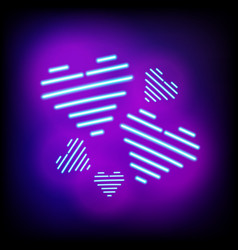 bright heart neon sign ready for your design vector image