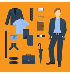 Business Man Clothes Set vector