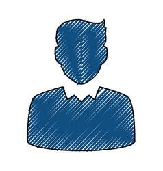businessman profile avatar vector image