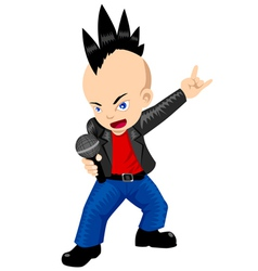 Cartoon rocker vector