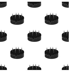 Chocolate cake icon in black style isolated on vector