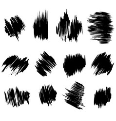 collection brush hand drawn graphic element vector image