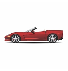 Convertible red car vector