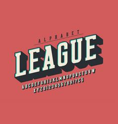 Cool 3d design alphabet typeface font vector