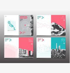 Cover brochure design template annual report vector