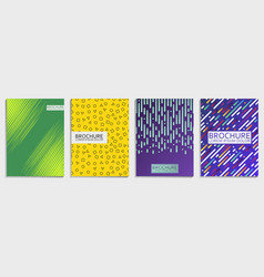 covers design set for brochure vector image