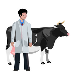 cow veterinarian character vector image