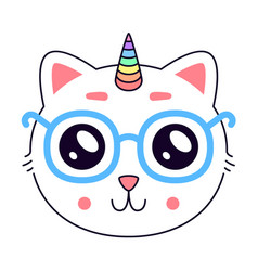 cute kitty head vector image