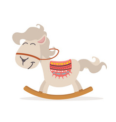 cute rocking horse vector image