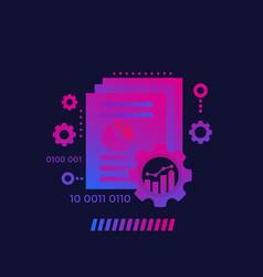 Data processing analytics and analysis vector