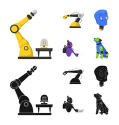 Design of robot and factory symbol set of vector