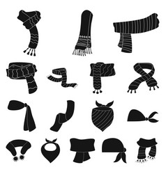 Design of scarf and shawl sign set of vector