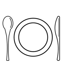 dinner icon vector image