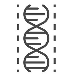 dna icon outline style vector image