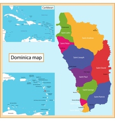 Dominica map vector image