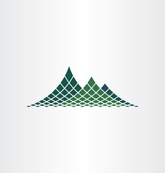 Dotted mountain icon vector