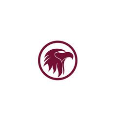 eagle head bird logo and symbol vector image