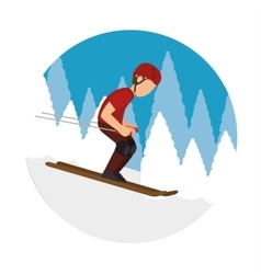 Extreme sports snowboard design isolated vector