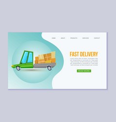 fast delivery service web template vector image