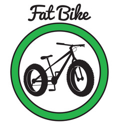 fat bike mountain bicycle sport vector image