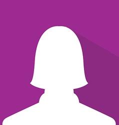 Female avatar profile picture purple member vector