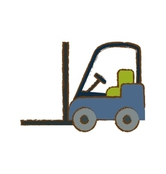 Forklift cargo icon image vector