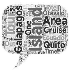 Galapagos cruise tour in ecuador text background vector