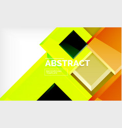 geometric abstract background modern square vector image