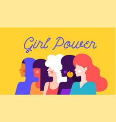 girl power modern flat character vector image