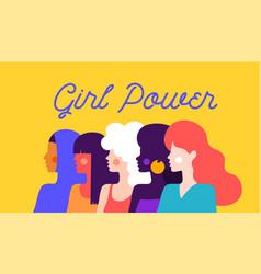 girl power modern flat character vector image