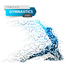 Gymnastics sport - dot on the white vector