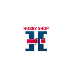 Hobby shop icon vector