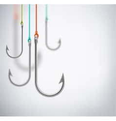Hooks concept background vector