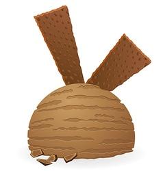 Ice cream ball 01 vector