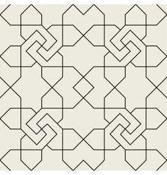 Islamic geometric seamless pattern background vector image