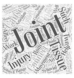 Joints and connective tissues and back pain Word vector