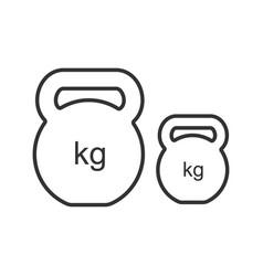 Kettlebells linear icon vector