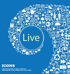 Live sign icon nice set of beautiful icons vector