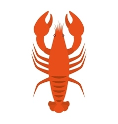 lobster seafood animal isolated icon vector image