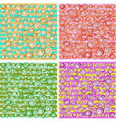 Loop spiral concentric circles collection vector