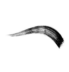 Make-up cosmetic mascara brush stroke on white vector
