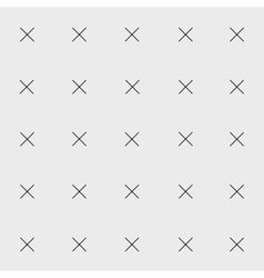 Minimal monochrome hand drawn pattern cross vector image