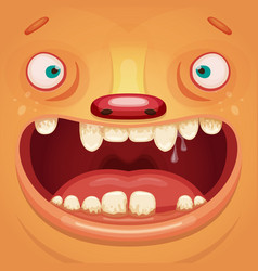 monster face vector image