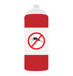 mosquito spray bottle icon mosquito insect stop vector image