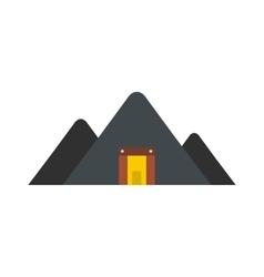 Mountain mine flat icon vector image