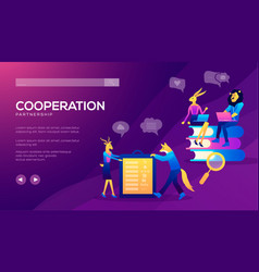 Occupation plan workplace for team cooperation vector