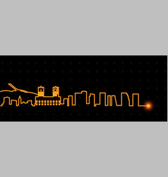 oslo light streak skyline vector image