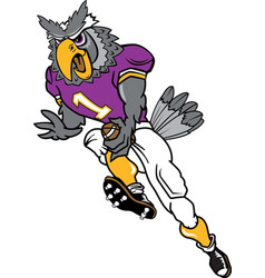 owl sports logo mascot football vector image