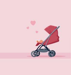 pink bastroller vector image