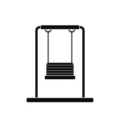 Playground swing black simple icon vector